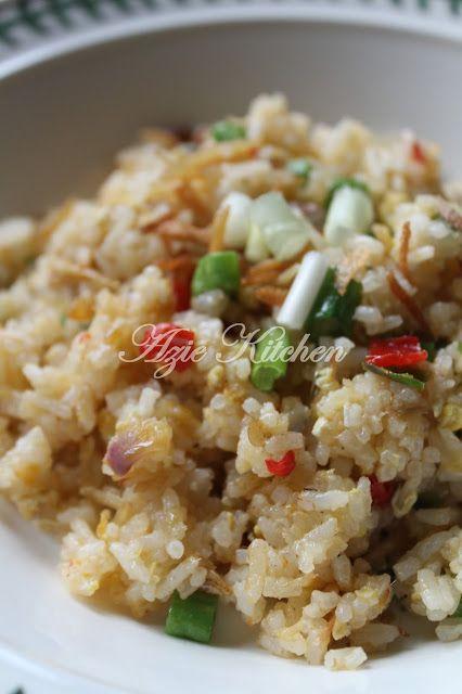 Azie Kitchen Nasi Goreng Ikan Bilis Yang Sedap Resep Masakan Malaysia Resep Makanan Resep Nasi