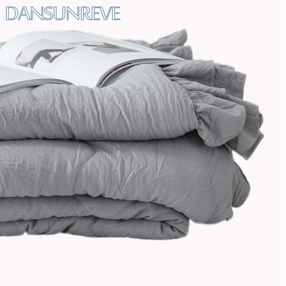100 Polyester Grey Quilt Summer Queen Size Lightweight Bed Quilts