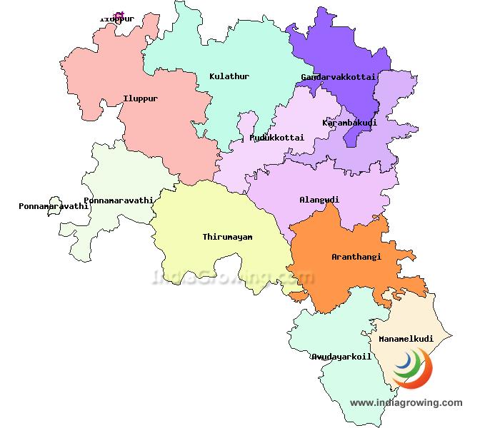 pudukkottai district map - Google Search   TN District Map   Map