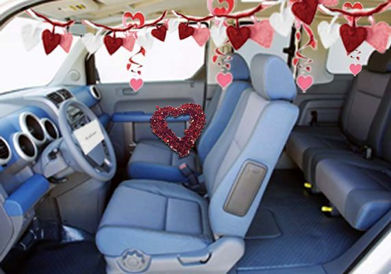 Car Interior Decoration Romantic Idea
