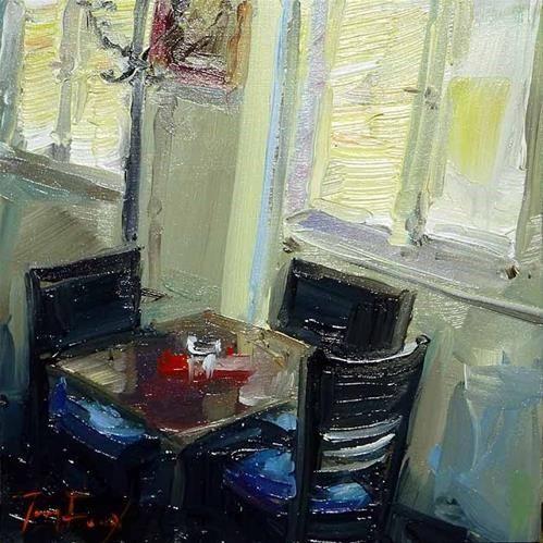 "Daily Paintworks - ""Cafétisch"" - Original Fine Art for Sale - © Jurij Frey"