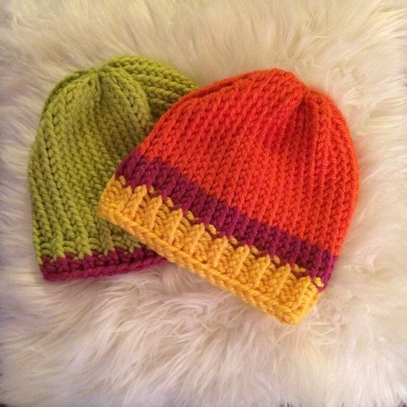 Check out my etsy shop, AlpineSummers! Cute hand-knit beanies ready to purchase and custom colors made to order :)