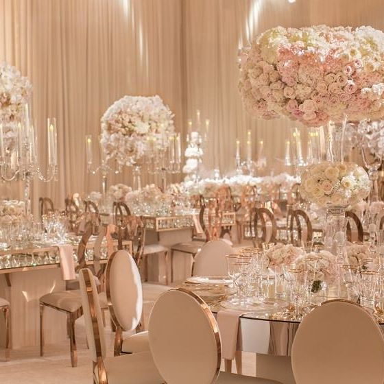 Mirror Table Decorations: Round Mirror Tables Were Included In The Floor Plan. The