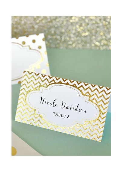 Metallic Foil Place Cards Set of 12 EB3044 Buy or DIY Our Day - buy place cards