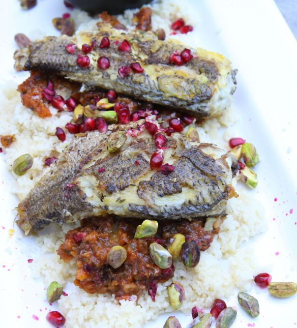 moroccan fish with couscous and harissa yoghurt in 2018 weeknight dinners pinterest kochen. Black Bedroom Furniture Sets. Home Design Ideas