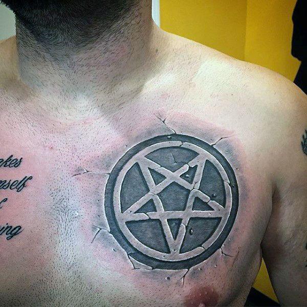 50 Pentagram Tattoo Designs For Men Five Pointed Star Ideas