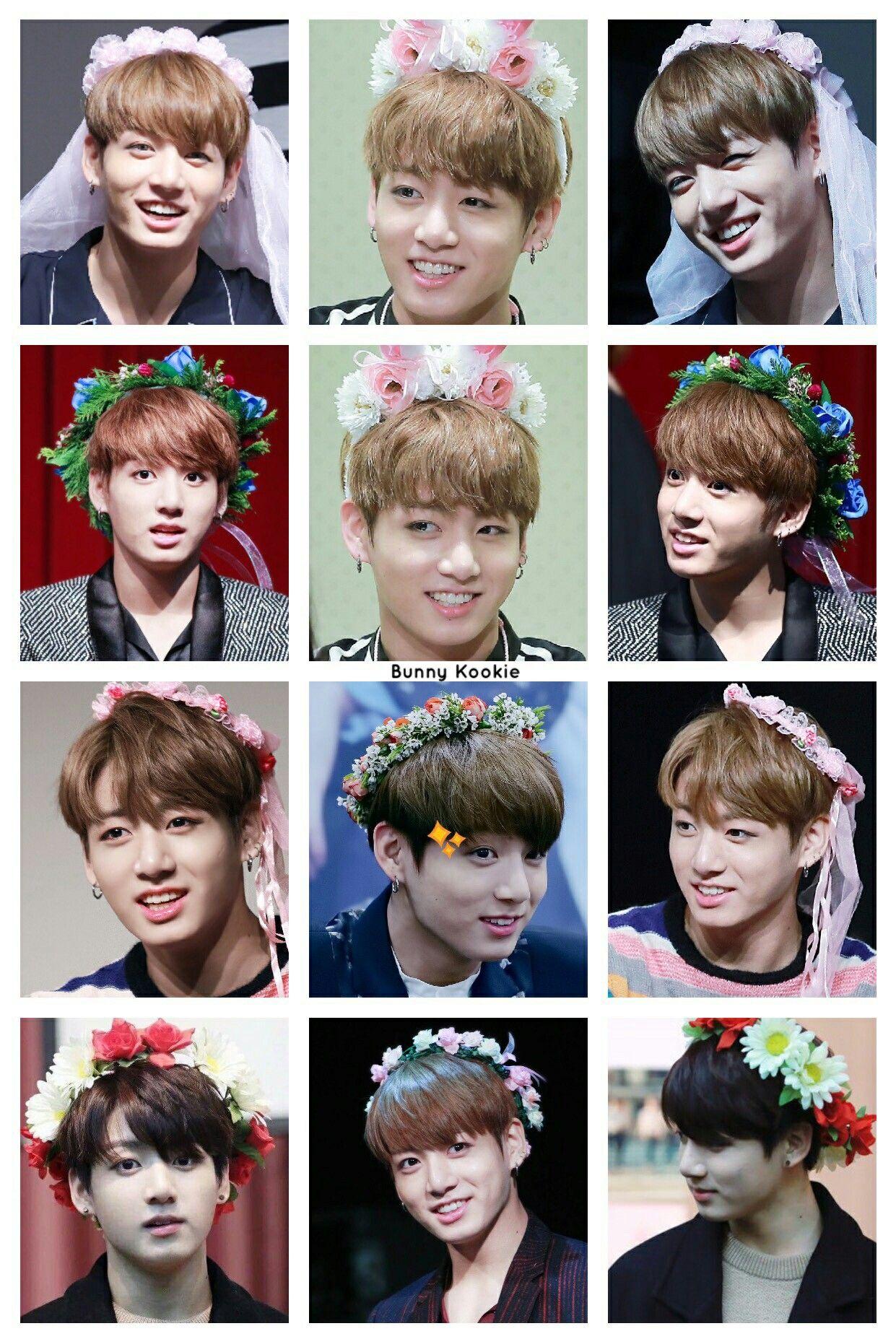 My Aesthetic Jungkook W Flower Crowns Bohemian Style In 2018