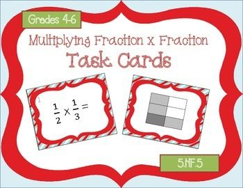 Multiplying Fraction Model Task Cards