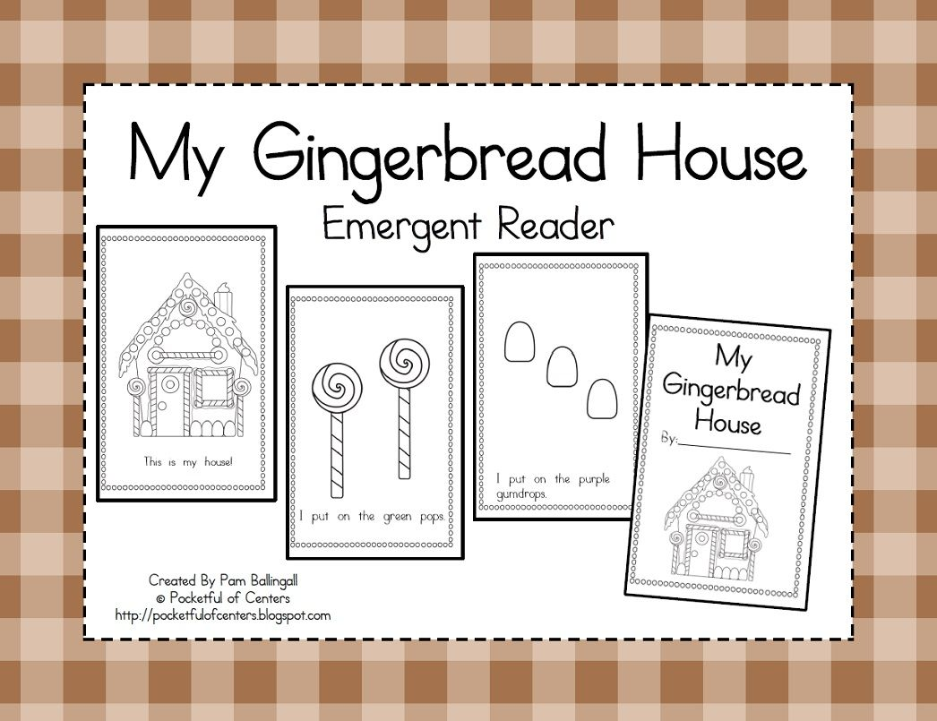 My Gingerbread House Emergent Reader 1 50