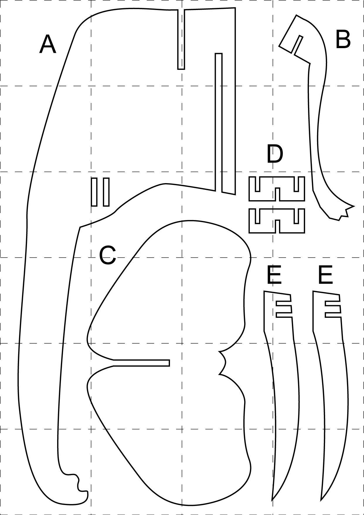 planos de cabeza de rinoceronte de carton - Buscar con Google ...