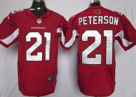 Nike Arizona Cardinals 21 Patrick Peterson Red Elite Football ...