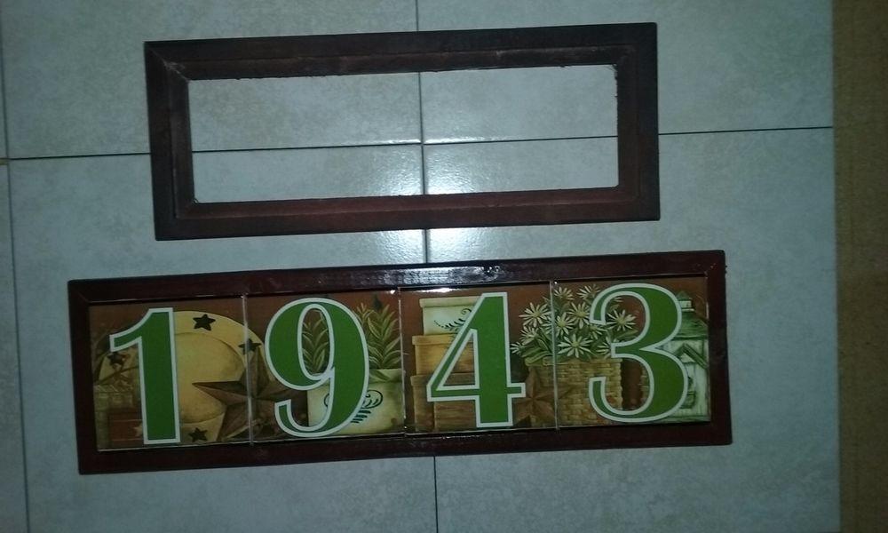 Wood Frames Ceramic Tile Address House Door Numbers Markers Hotel Sign Plaque Wood Frame Frame Ceramic Tiles