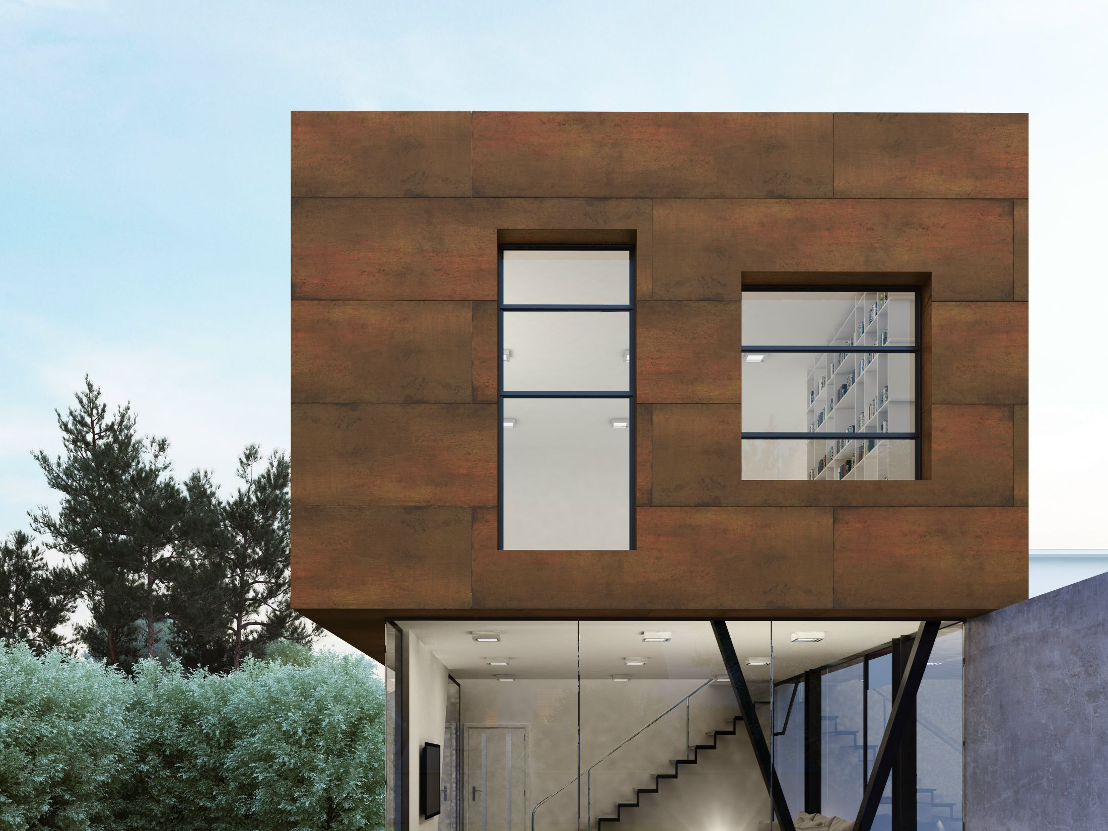 Ultra Thin Outdoor Wall Tiles With Metal Effect Steel Corten Steel Collection By Levantina
