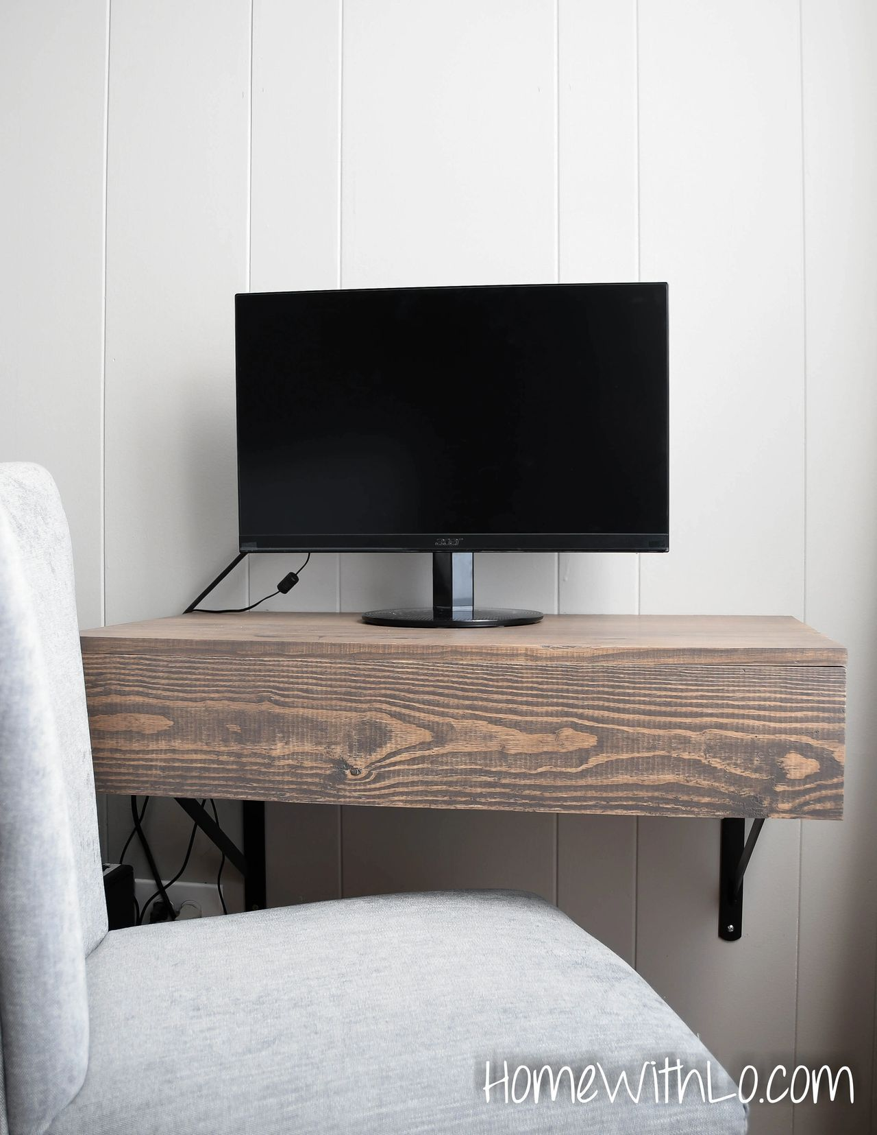 Floating Computer Desk Building Plans With Pull Out Keyboard Tray