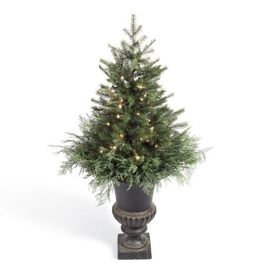 Spruce Tree Urn Filler With Overflow Spruce Tree Christmas Urns Prelit Tree