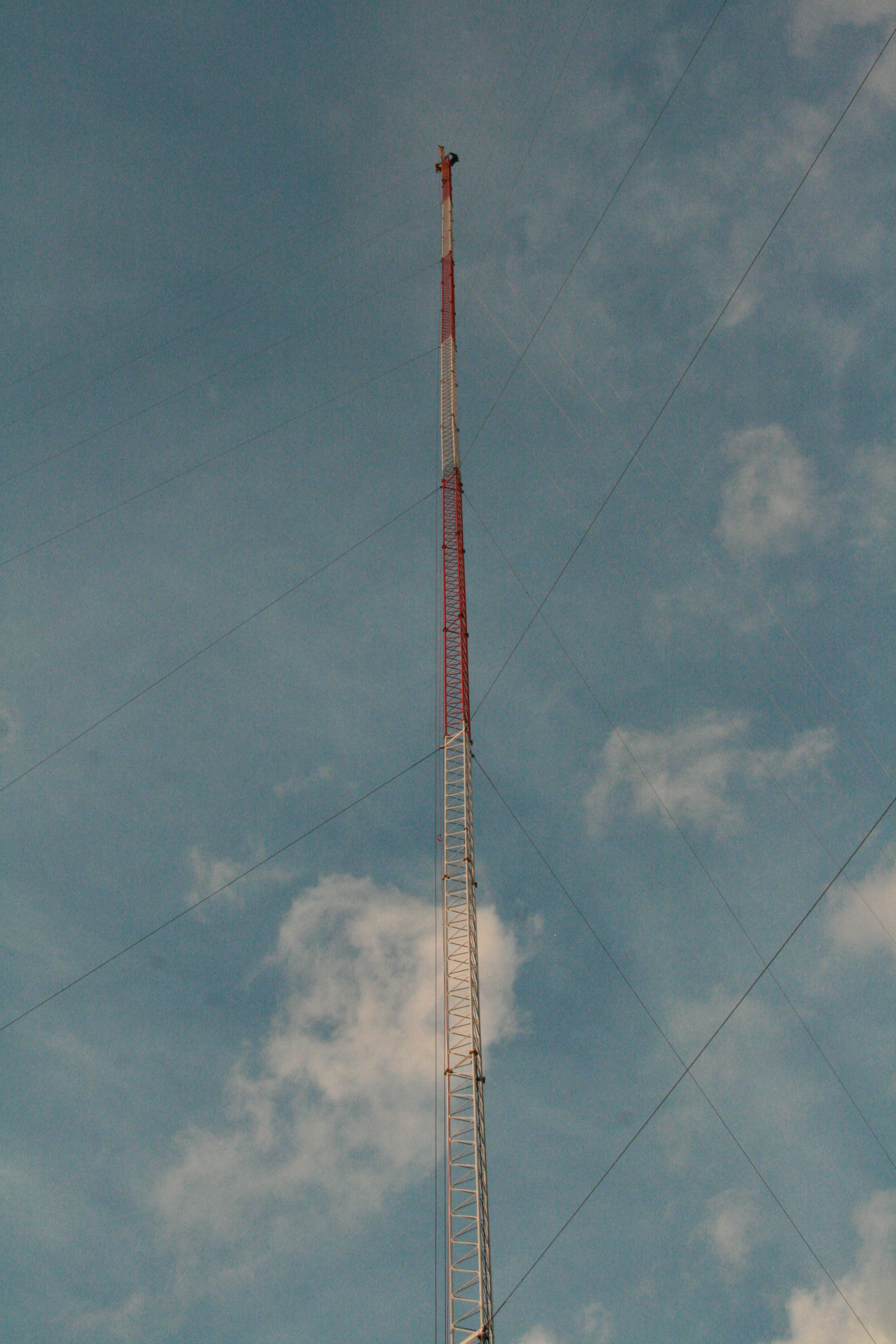 Topping out the tower Tallasee,AL. Tower, Cell site, Pics