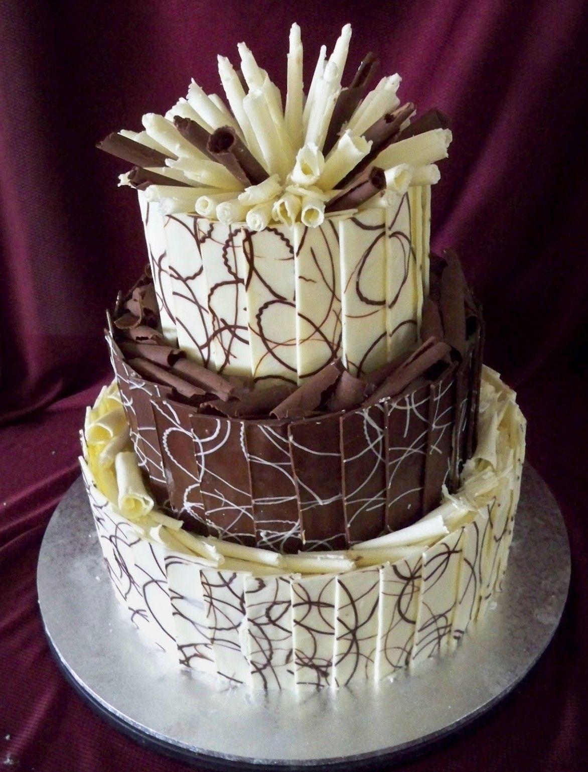 Wedding Cake Beautiful Chocolate Tiered Wedding Cake Design