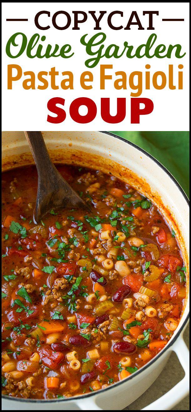 Check out Copycat Olive Garden Pasta e Fagioli Soup. It\'s so easy to ...