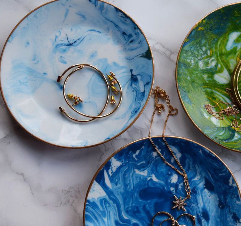 How To Make Magnificent Marble Trinket Dishes