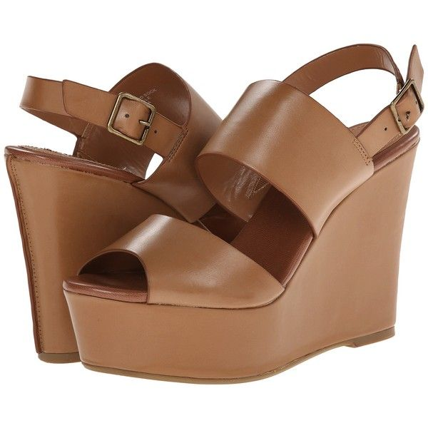 Steve Madden Seemed (Tan Multi) Women's Wedge Shoes ($60) ❤ liked on