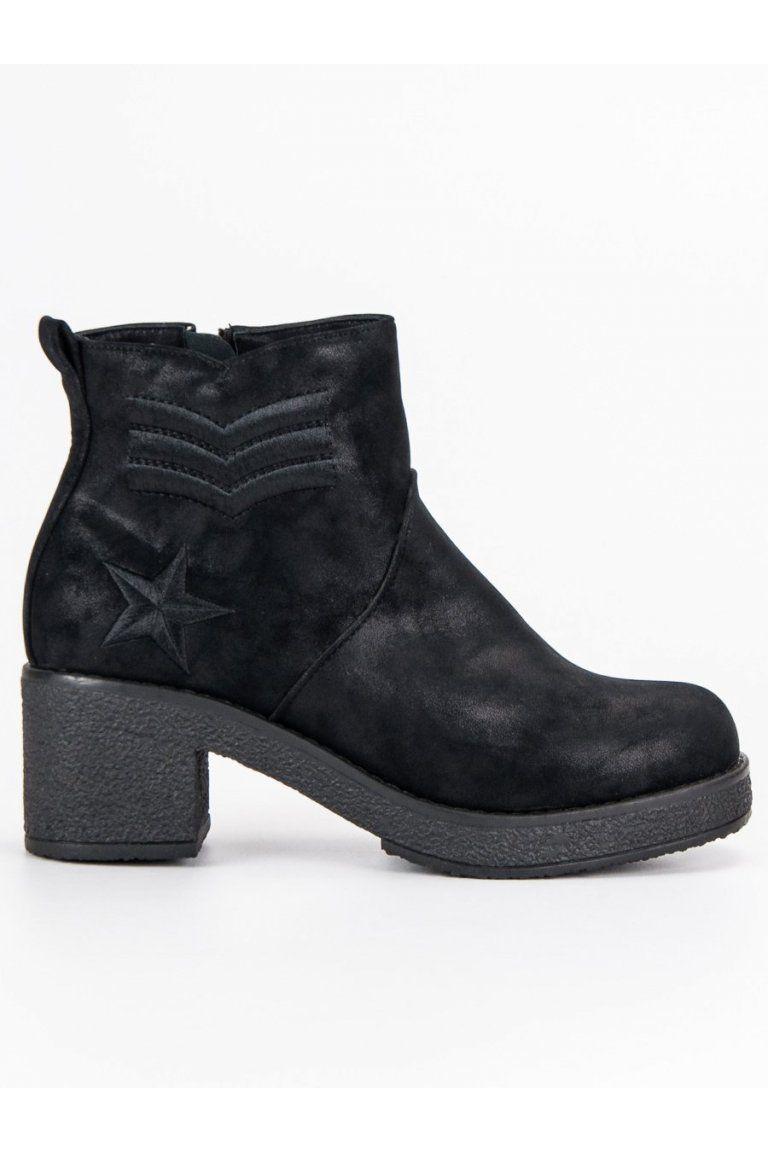 0f90a96b9e Dámske členkové topánky čierne vojenské čižmy Kylie