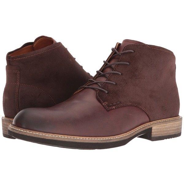 2d88e671 ECCO Kenton Plain Toe Boot (Mink/Mocha) Men's Dress Lace-up Boots ...