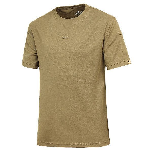 Quick Dry Army Combat Training Tops Moisture Absorption Short Sleeve Tees For Men