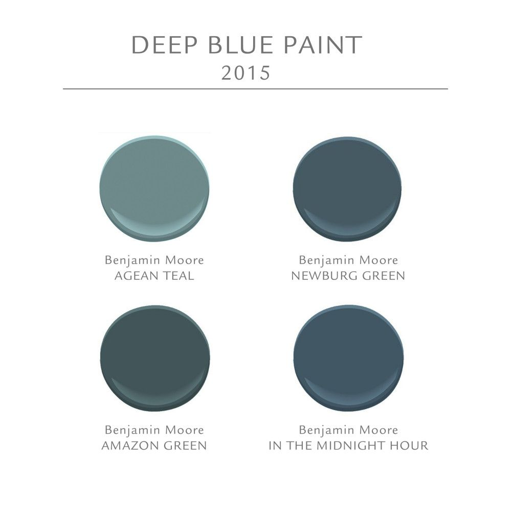 Color Spotlight Benjamin Moore Aegean Teal: Deep Blue Paint Ideas