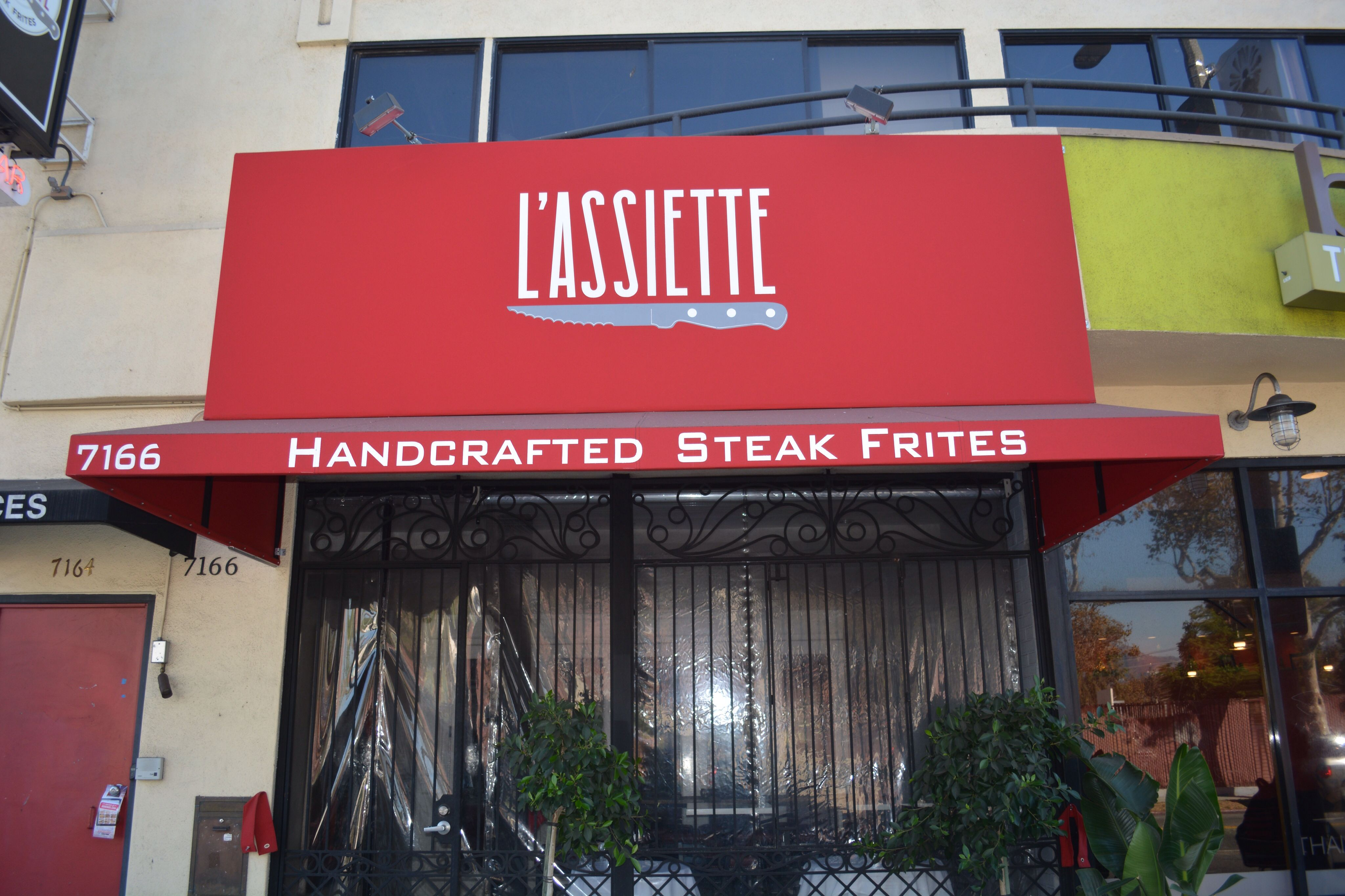 Beautiful Restaurant Awning Storefront Awning Red Logo Artwork Graphics Canopy Interiordesign Awnings Commercial Signs Outdoor Fabric Exterior Design