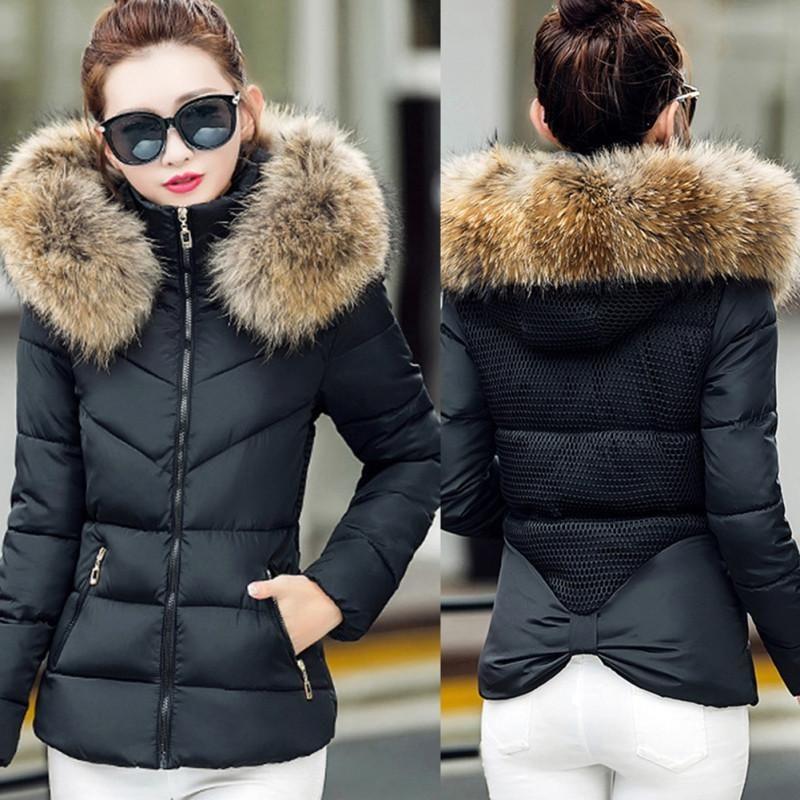 de561dc1eca Faux Fur Collar Hooded Slim Fit Parka Jacket | Jackets Sweaters and ...