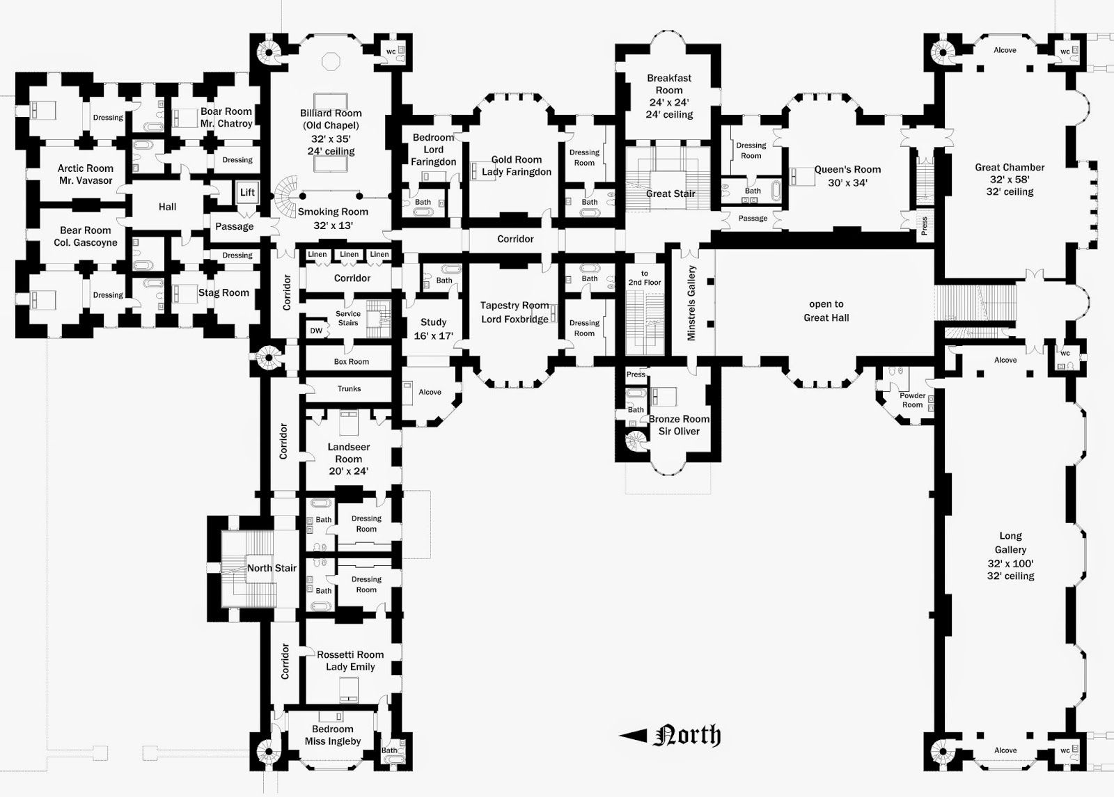 Foxbridge Castle Floor Plan 2