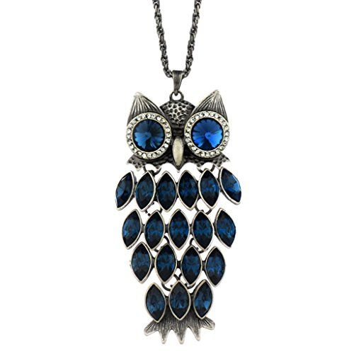 Neoglory blue crystal made with swarovski elements fashion vintage neoglory blue crystal made with swarovski elements fashion vintage owl animal pendant necklace charm jewelry 354 mozeypictures Images