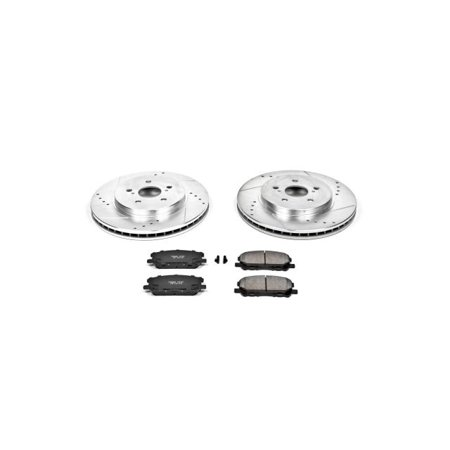 Power Stop Front Rear Brake Kit With Drilled Slotted Rotors And Ceramic Brake Pads Kc7530 26 White In 2020 Ceramic Brake Pads Ceramic Brakes Brake Pads