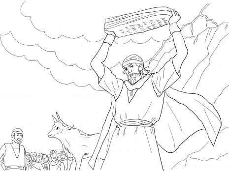 Moses Breaking The Tablets Of Law Bible Coloring Pages Golden