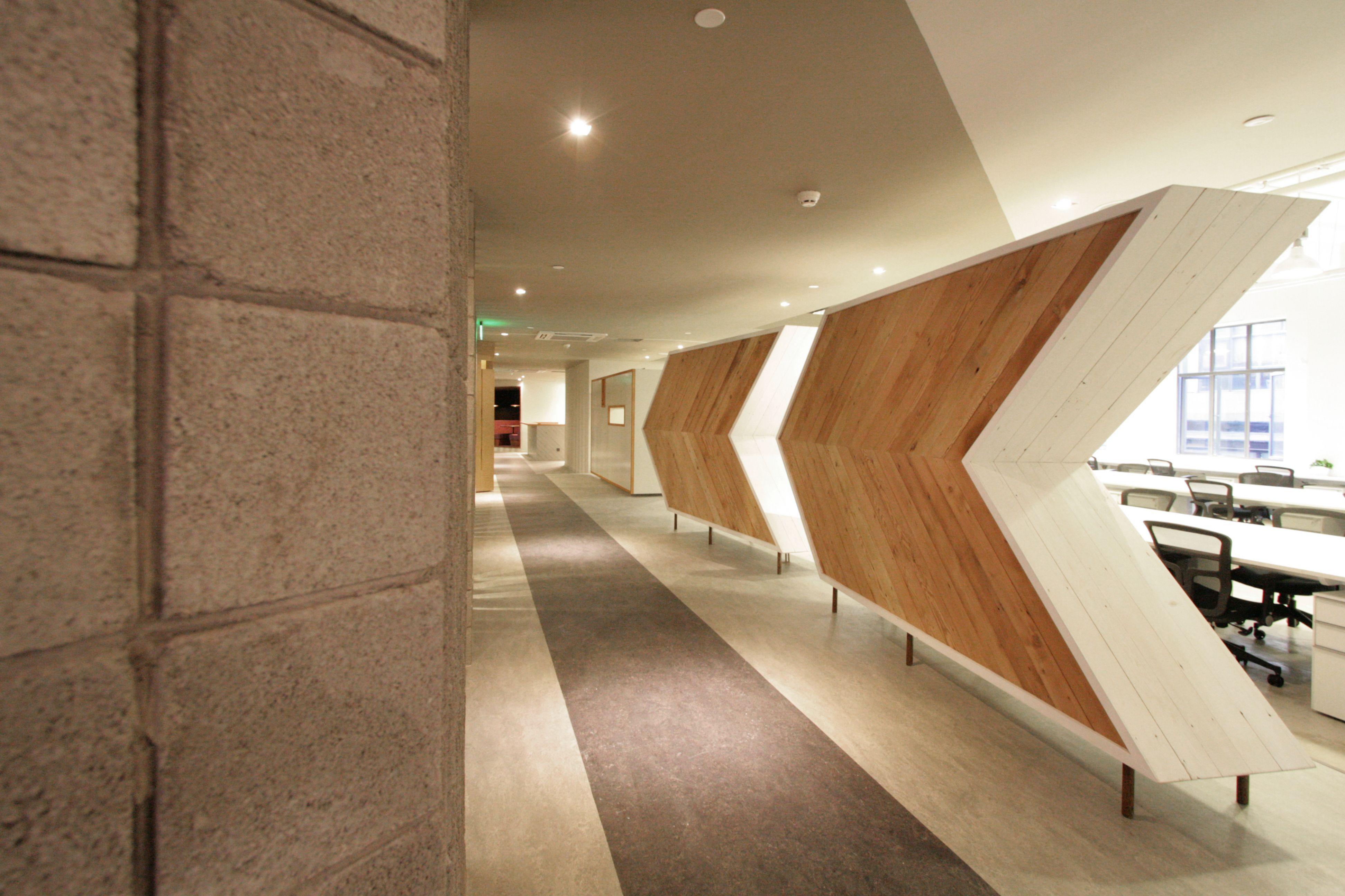 AKQA :: Shanghai Office :: Entry Hallway :: Arrow Cabinets :: Reclaimed