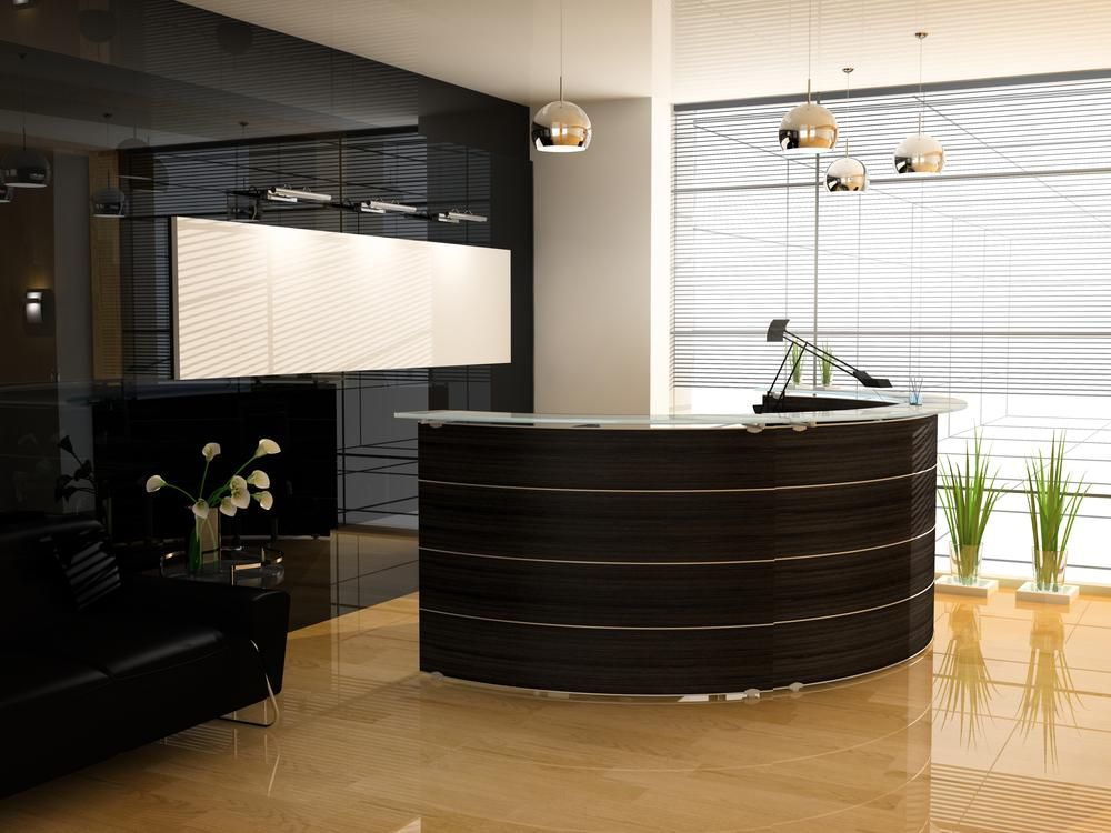 reception area design - Google Search