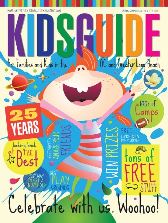 cover design for kidsguide magazine layout composition rh pinterest com San Gabriel Magazine Guide Magazine kids guide magazine orange county