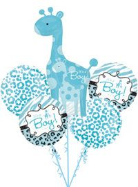 Blue Safari Baby Shower Party Supplies Party City Baby Boy Balloons Baby Shower Balloons Turquoise Baby Showers