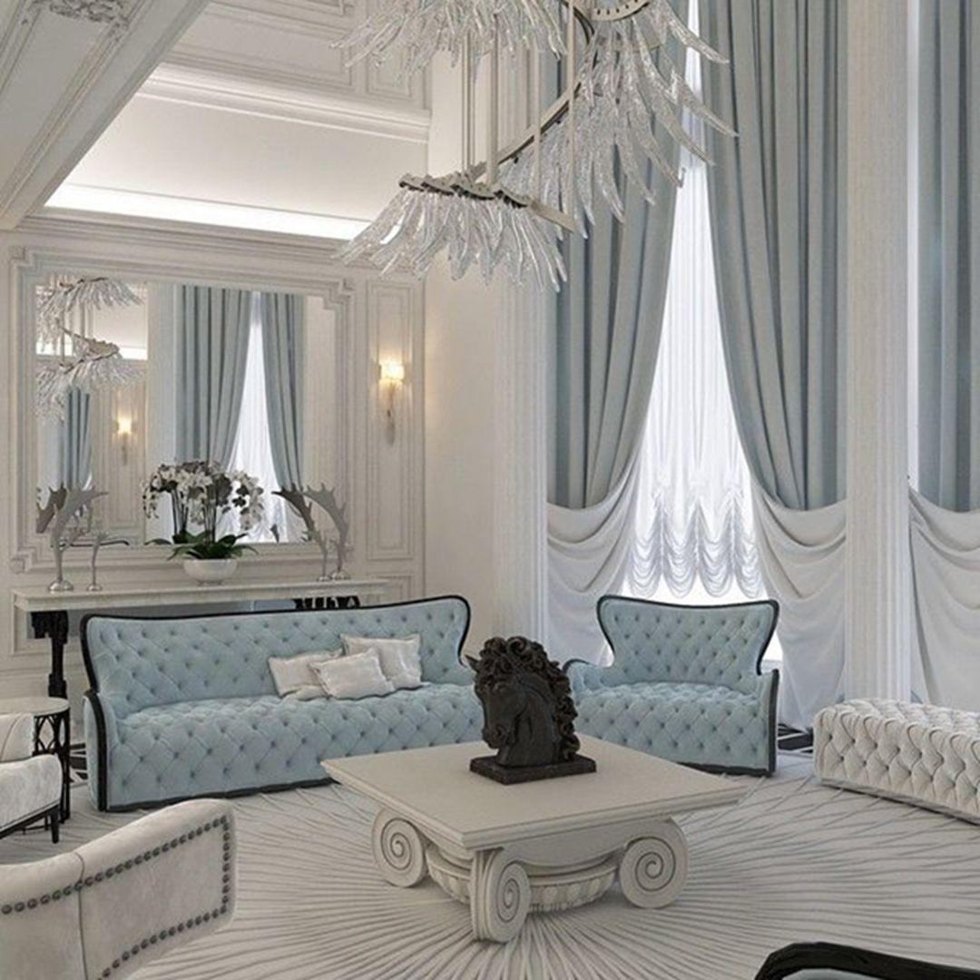 Pin By Sadiya Shireen On Ar Deko Curtains Living Room Luxury Living Room Elegant Living Room