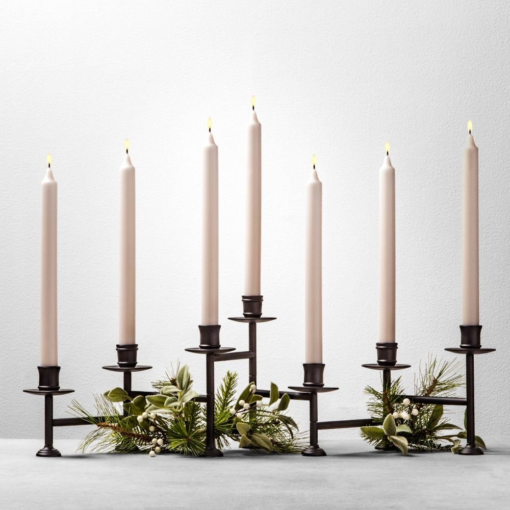 Hearth And Hand Candelabra Candle Holder Black Candle Holders Home Candles Target Candle Holder