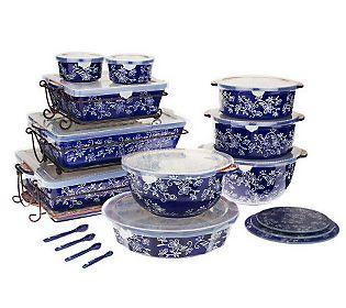 Qvc K39348 24 Pc For 110 Bucks One 13 X 9 Baker Ceramic Lid