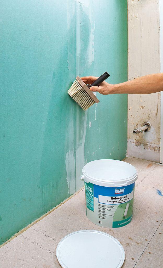 Dusche abdichten Badsanierung, Badezimmer bauen und