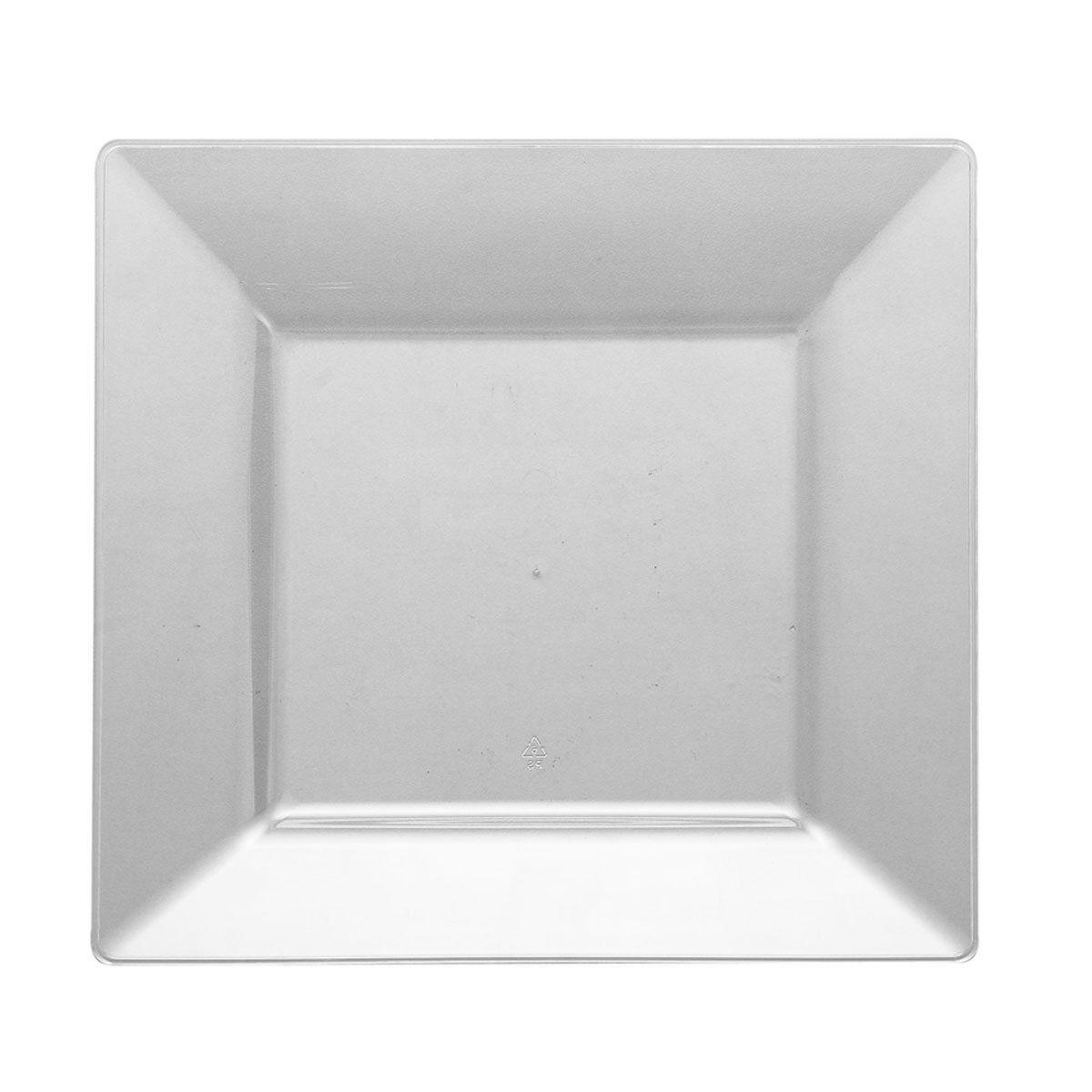 6 1 2 Dia Clear Plastic Square Dessert Plates Square Plates Plates Wedding Plates