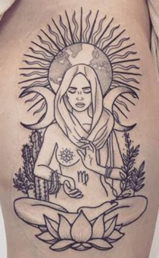 50 Best Virgo Tattoos Ideas - Hike n Dip