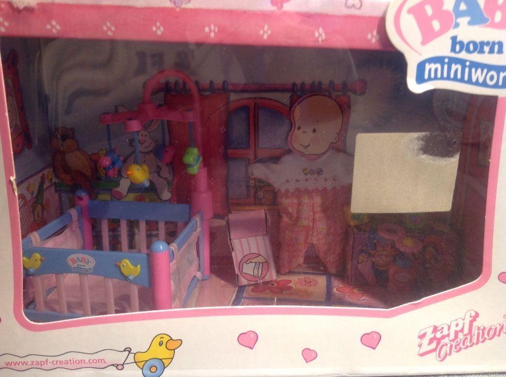 Baby Born Miniworld, Mini, Laufstall Set 766712 mit Möblierung, NEU und OVP in Spielzeug, Puppen & Zubehör, Babypuppen & Zubehör, Puppen, Baby Born   eBay