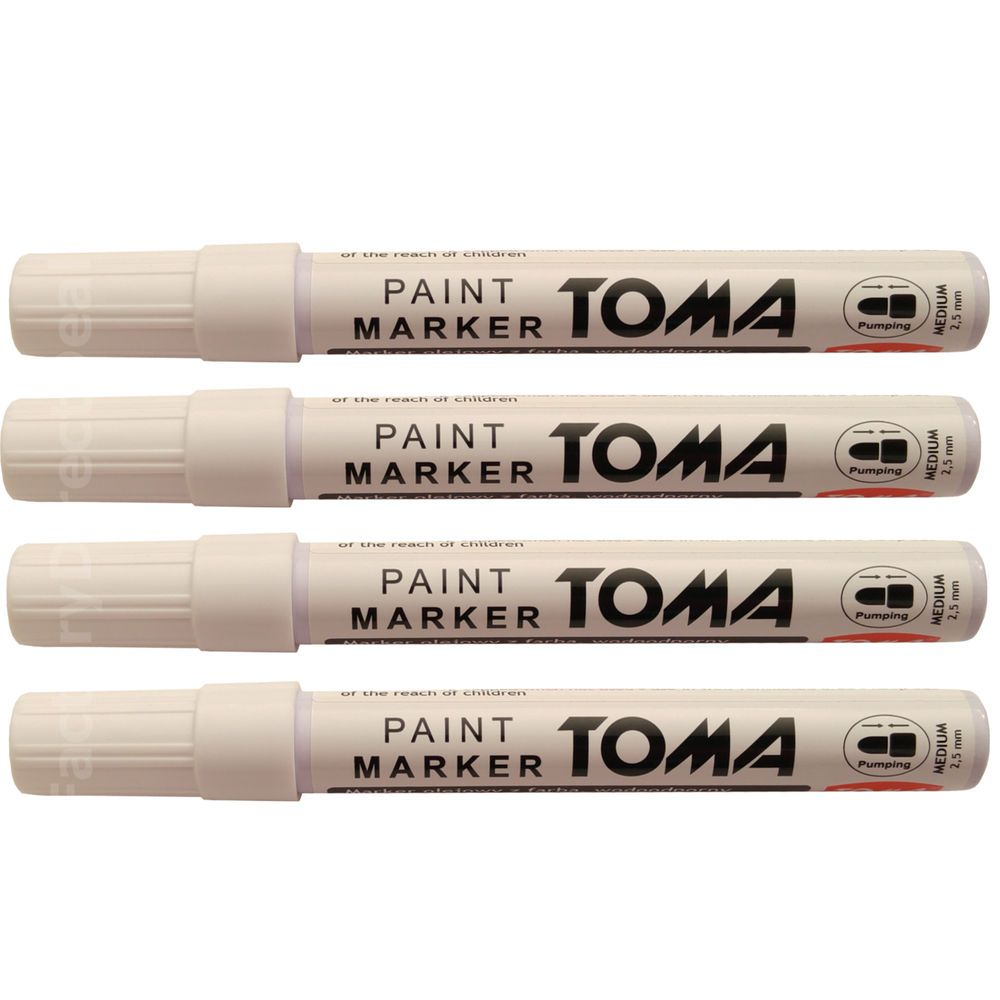 White Paint Plastic Pens Used On Tire Metal Wood Glass Plastic Cardboard Paper