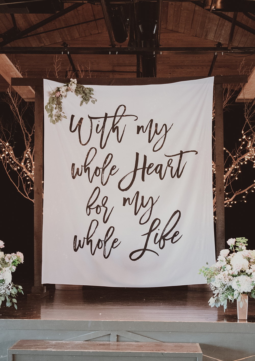 Rustic Wedding Backdrop With My Whole Heart For My Whole Life | Etsy