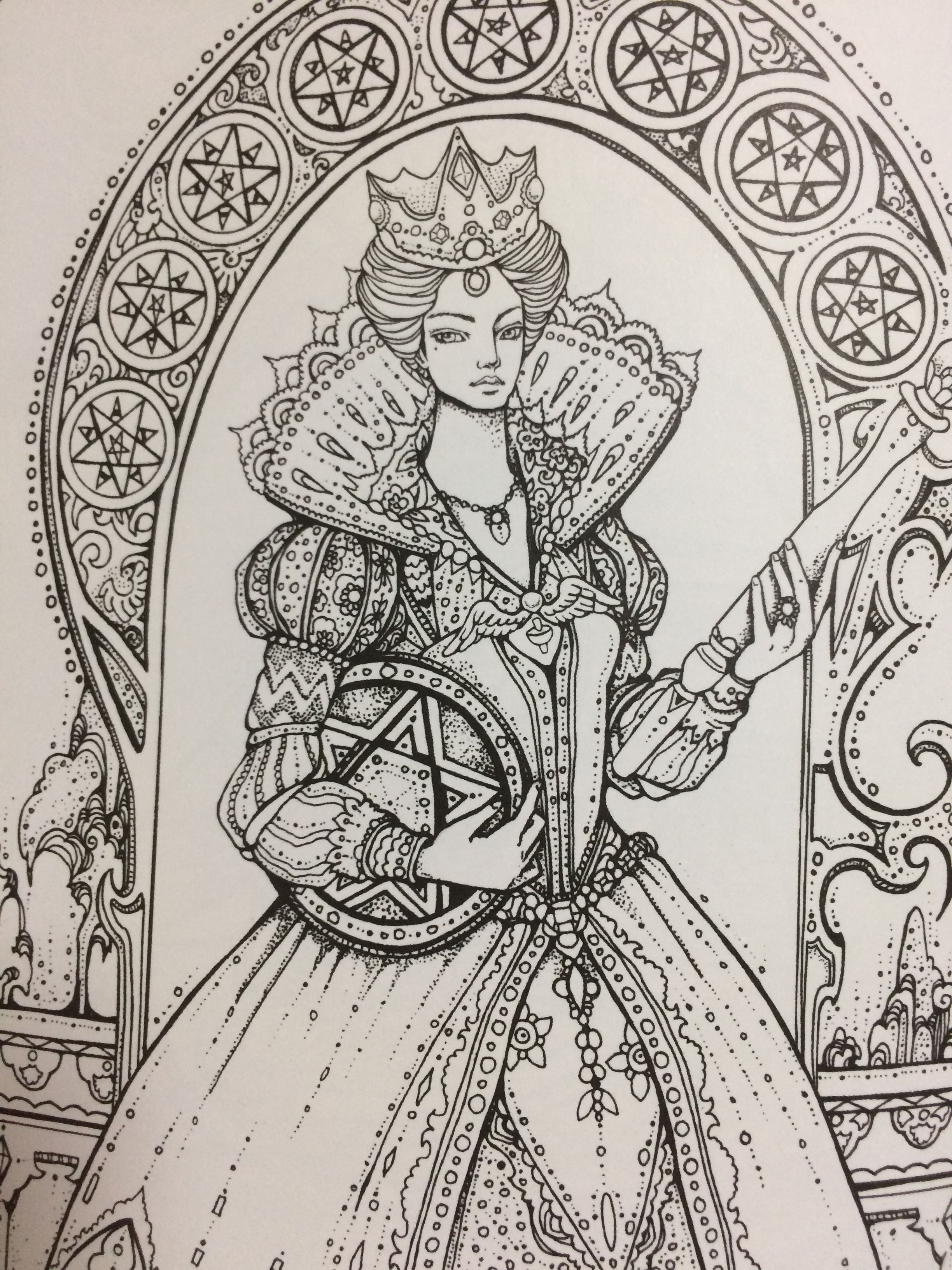 Tarot coloring book that brings fortune and wealth