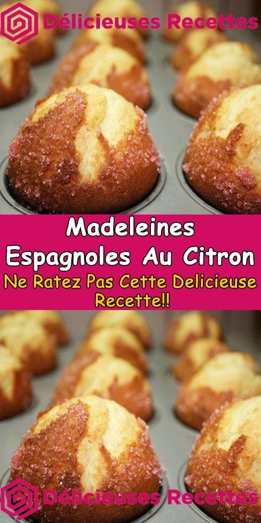 Madeleines espagnoles au citron – Recette