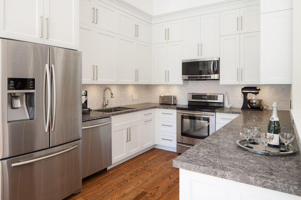 Best Coastal Grey Ceasarstone Kitchen Inspiration Design 400 x 300